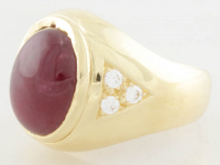 11.51ct Ruby Ring 18kt Yellow Gold (Heritage Appraisal) at PristineAuction.com