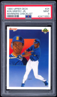 Ken Griffey Jr. 1990 Upper Deck #24 Team Card (PSA 9) at PristineAuction.com