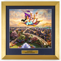 "Thomas Kinkade Walt Disney's ""Aladdin"" 16x16 Custom Framed Print Display at PristineAuction.com"