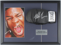 Mike Tyson Signed 16.5x22.5 Custom Framed Boxing Glove Display (PSA COA) at PristineAuction.com