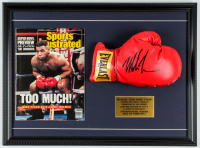 "Mike Tyson Signed 17x23 Custom Framed Boxing Glove Display with ""Sports Illustrated"" Magazine (PSA COA) at PristineAuction.com"