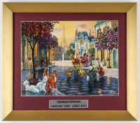 "Thomas Kinkade Walt Disney's ""The Aristocats"" 14x16 Custom Framed Print Display at PristineAuction.com"