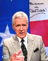 """Alex Trebek Signed """"Jeopardy!"""" 8x10 Photo Inscribed """"The Answer Is"""" (Beckett COA) at PristineAuction.com"""
