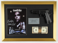 "Henry Hill Signed ""Goodfellas"" 16x22 Custom Framed Print Display Inscribed ""Goodfella"" with Replica Gun & Prop Money (PSA COA) at PristineAuction.com"