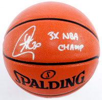 """Stephen Curry Signed NBA Game Ball Series Basketball Inscribed """"3x NBA Champ"""" (Fanatics Hologram) at PristineAuction.com"""