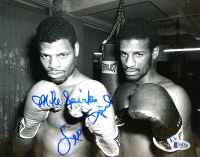 Leon Spinks & Michael Spinks Signed 8x10 Photo (Beckett COA) at PristineAuction.com