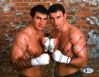 Wladimir Klitschko & Vitali Klitschko Signed 8x10 Photo (Beckett COA) at PristineAuction.com