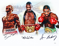 "Iran Barkley, Mike Spinks & ""Poison"" Junior Jones Signed 11x14 Photo (JSA COA) at PristineAuction.com"