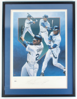 Ken Griffey Jr. Signed LE Mariners 25x33.5 Custom Framed Lithograph Display (Beckett LOA) at PristineAuction.com