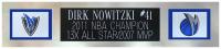 Dirk Nowitzki Signed 35x43 Custom Framed Jersey Display (Fanatics Hologram) at PristineAuction.com