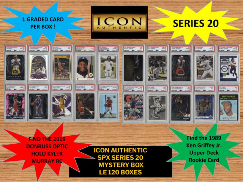Icon Authentic SPX Series 20 Mystery Box 100+ Cards Per Box LTD Edition of 120 at PristineAuction.com