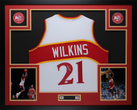 Dominique Wilkins Signed 35x43 Custom Framed Jersey Display (JSA COA) at PristineAuction.com