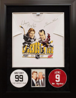 "Wayne Gretzky & Gordie Howe Signed ""Legends on Ice"" Shirt 28.75x36.75 Custom Framed Shirt Display (JSA COA) at PristineAuction.com"