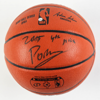 "Kristaps Porzingis Signed NBA Game Ball Series Basketball Inscribed ""2015 4th Draft Pick"" (Steiner COA) at PristineAuction.com"