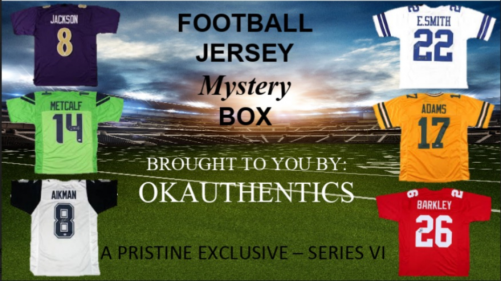 OKAUTHENTICS Pro Football Jersey Mystery Box Series VI at PristineAuction.com