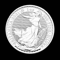 2021 1 oz .999 Fine Silver Britannia Two Pounds Coin at PristineAuction.com
