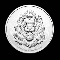 2021 1 oz .999 Fine Silver Roaring Lion Two Dollar Coin at PristineAuction.com