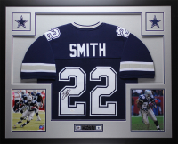 Emmitt Smith Signed 35x43 Custom Framed Jersey Display (JSA COA) at PristineAuction.com