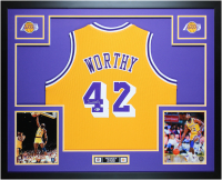 James Worthy Signed 35x43 Custom Framed Jersey (Beckett COA) at PristineAuction.com