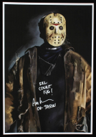"""Ari Lehman Signed Jason Voorhees - """"Friday the 13th"""" 13x19 Lithograph Inscribed """"Kill Count 146!"""" & """"OG Jason"""" (PA COA) (See Description) at PristineAuction.com"""