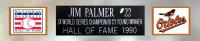 """Jim Palmer Signed 35x43 Custom Framed Jersey Inscribed """"HOF 1990"""" (JSA COA) at PristineAuction.com"""