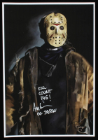 "Ari Lehman Signed Jason Voorhees - ""Friday the 13th"" 13x19 Lithograph Inscribed ""Kill Count 146!"" & ""OG Jason"" (PA COA) (See Description) at PristineAuction.com"