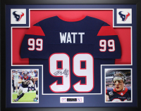 J. J. Watt Signed 35x43 Custom Framed Jersey (JSA COA) at PristineAuction.com