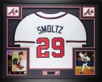 John Smoltz Signed 35x43 Custom Framed Jersey (JSA COA) at PristineAuction.com