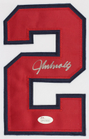 John Smoltz Signed 35x43 Custom Framed Jersey (JSA COA) at PristineAuction.com