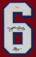 Julius Erving Signed 35x43 Custom Framed Jersey (JSA COA) at PristineAuction.com