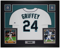 Ken Griffey Jr. Signed 35x43 Custom Framed Jersey (TriStar Hologram) at PristineAuction.com
