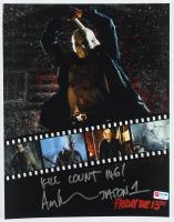 "Ari Lehman Signed ""Friday the 13th"" 11x14 Photo Inscribed ""Kill Count 146!"" & ""Jason 1"" (PA COA) at PristineAuction.com"