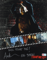 """Ari Lehman Signed """"Friday the 13th"""" 11x14 Photo Inscribed """"Kill Count 146!"""" & """"OG Jason"""" (PA COA) (See Description) at PristineAuction.com"""