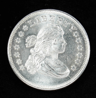1 Troy oz .999 Draped Bust Dollar Silver Coin at PristineAuction.com