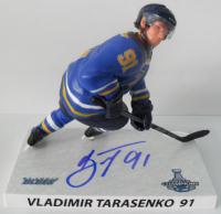 "Vladimir Tarasenko Signed Blues LE 6"" Figurine (JSA Hologram) at PristineAuction.com"