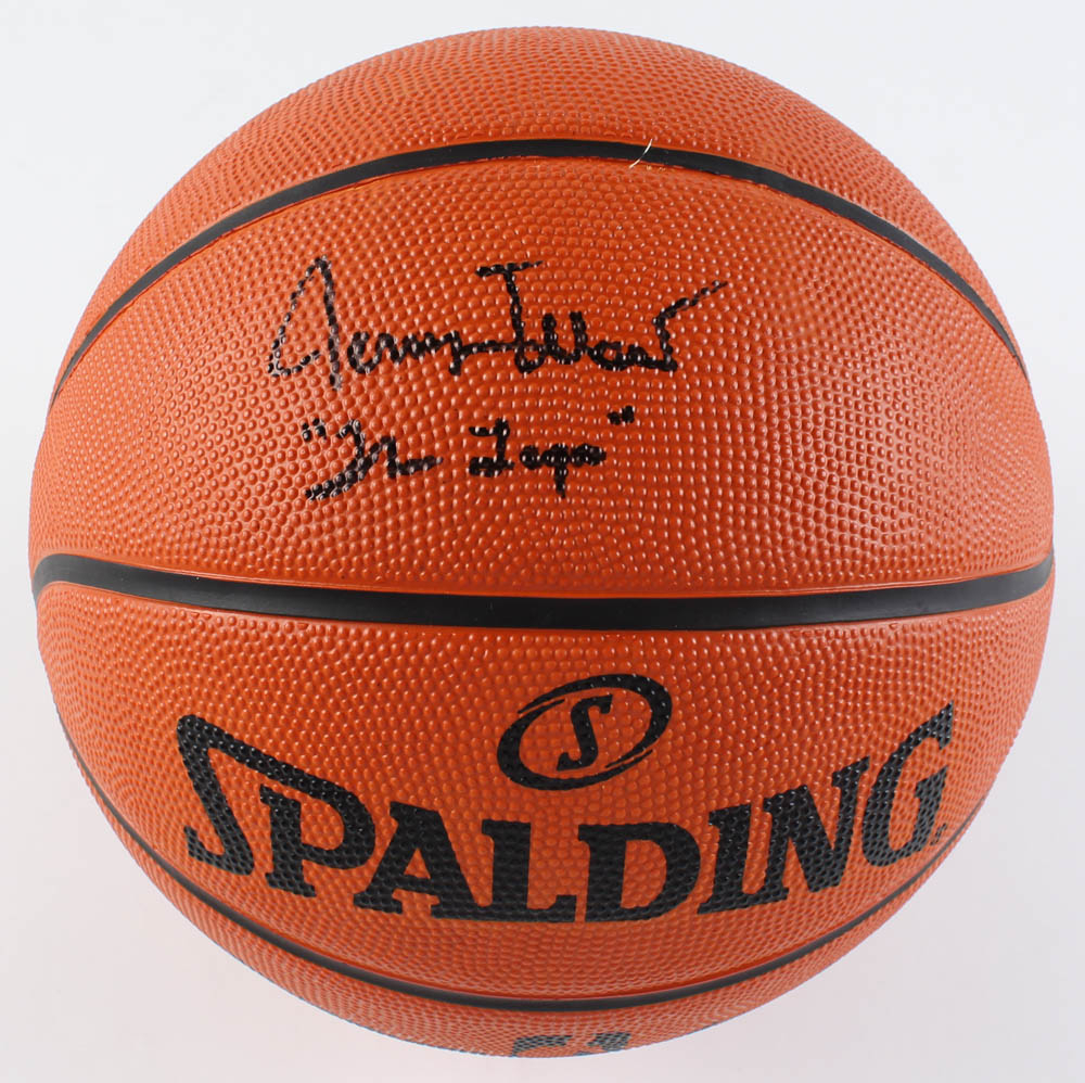 """Jerry West Signed NBA Arena Game Ball Series Basketball Inscribed """"The Logo"""" (MAB Hologram) at PristineAuction.com"""