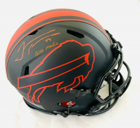 "Tremaine Edmunds Signed Bills Full-Size Authentic On-Field Eclipse Alternate Speed Helmet Inscribed ""Bills Mafia"" (Beckett COA) at PristineAuction.com"