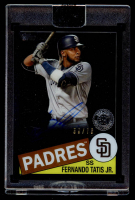 Fernando Tatis Jr. 2020 Topps Clearly Authentic '85 Topps Autographs Black #TBAFT (Topps Encapsulated) at PristineAuction.com