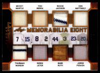 Mickey Mantle/Thurman Munson/Yogi Berra/Derek Jeter/Reggie Jackson/Babe Ruth/Don Mattingly/Jorge Posada 2019 Leaf Ultimate Sports Ultimate Memorabilia Eights Bronze Spectrum Foil #U807 at PristineAuction.com