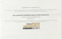 """Brian Leetch Signed Easton Full-Size Hockey Stick Inscribed """"1st Game 3 Points 4/3/04"""" (YSMS COA) at PristineAuction.com"""