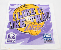 Chick Hearn Signed Lakers Official Game Towel (Beckett LOA) at PristineAuction.com