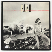 "Geddy Lee Signed Rush ""Permanent Waves"" Vinyl Record Album (PSA Hologram) at PristineAuction.com"