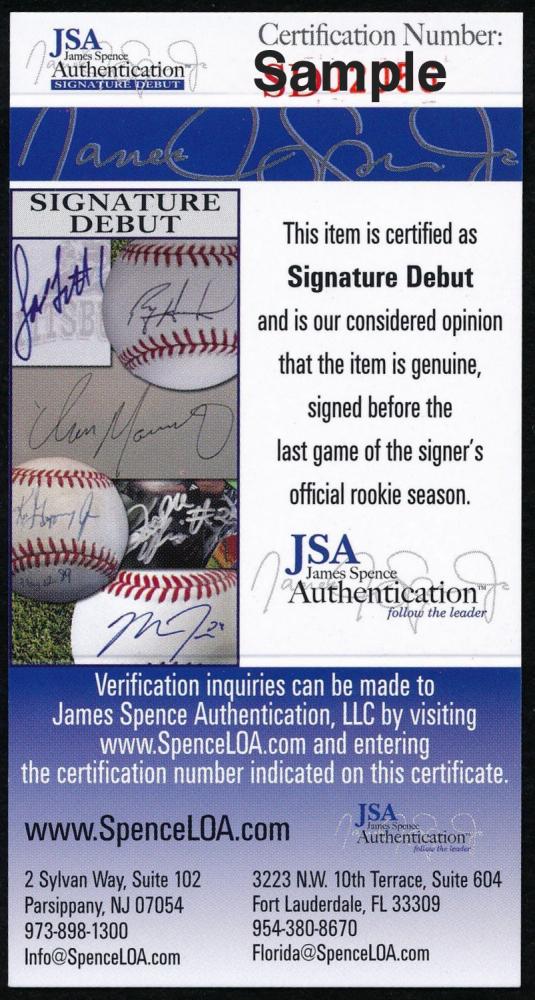 Fernando Tatis Jr Autographed Rawlings OML Baseball JSA Auth