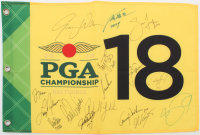 2016 PGA Championship Pin Flag Signed By (16) with Jack Nicklaus, Phil Mickelson, Lee Trevino, John Daly, Justin Thomas, Jason Day (Beckett LOA) at PristineAuction.com