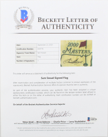 Sam Snead Signed 2000 Masters Tournament Pin Flag (Beckett LOA) at PristineAuction.com