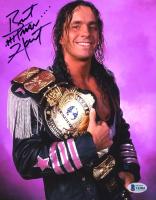 "Bret ""Hitman"" Hart Signed WWE 8x10 Photo (Beckett COA) at PristineAuction.com"
