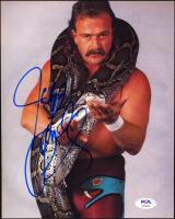 "Jake ""The Snake"" Roberts Signed WWE 8x10 Photo (PSA Hologram) at PristineAuction.com"