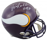 "John Randle Signed Vikings Full-Size Throwback Helmet Inscribed ""HOF 10"" (JSA COA) at PristineAuction.com"