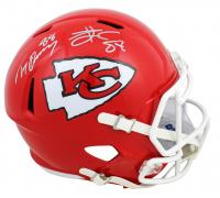 Tony Gonzalez & Travis Kelce Signed Chiefs Full-Size Speed Helmet (Beckett COA) at PristineAuction.com