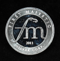 1 Troy oz .999 2011 First Majestic Silver Corp. Bullion Round at PristineAuction.com